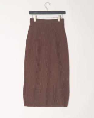BROWN リラックス和紙混ニットスカートを見る