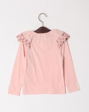 ピンク フリルスリーブTシャツを見る
