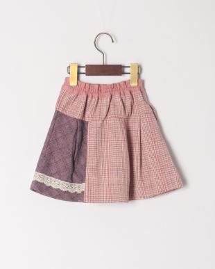 ピンク 格子切替スカートを見る