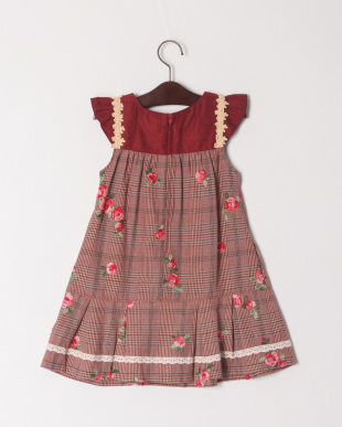 レッド ローズ刺繍ジャンパースカートを見る