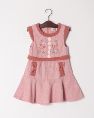 ピンク フレアジャンパースカートを見る