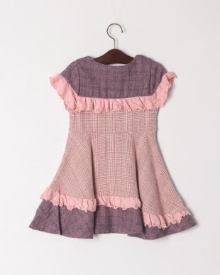 ピンク パネル切替ジャンパースカートを見る