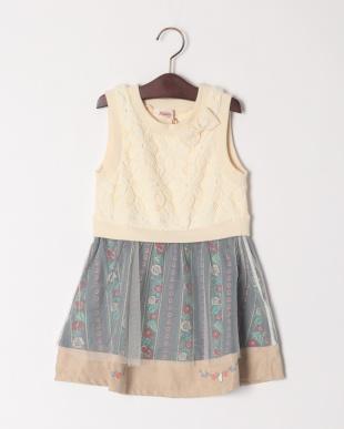 アイボリー フォークロアジャンパースカートを見る