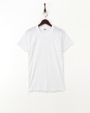 ホワイト  綿100% GOLD 2枚組丸首半袖シャツ  2セットを見る
