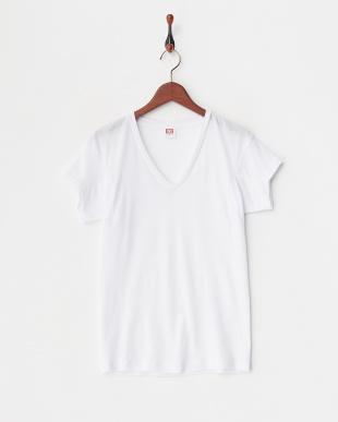 ホワイト 吸水速乾 ベンチレーション ドライコントロール 深Vネック2分袖シャツ  3セットを見る