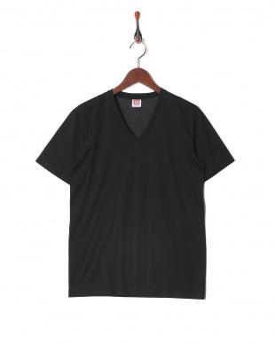 ブラック 接触冷感 吸水速乾 抗菌防臭 アイスデオ Vネックシャツ  3セットを見る