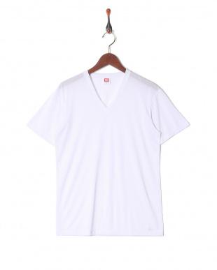 ホワイト 接触冷感 吸水速乾 抗菌防臭 アイスデオ Vネックシャツ  3セットを見る