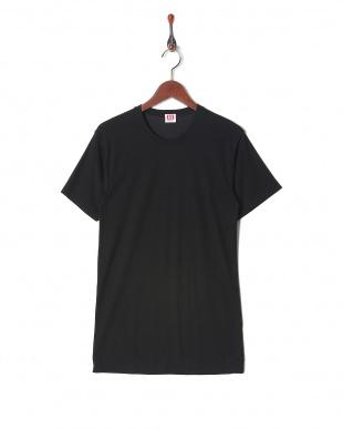 ブラック  吸水速乾 抗菌防臭 涼感メッシュ クルーネックシャツ  3セットを見る
