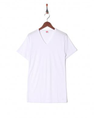 ホワイト 吸水速乾 抗菌防臭 涼感メッシュ Vネックシャツ  3セットを見る
