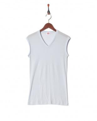 ライトグレー 吸水速乾 メッシュ ウルトラドライ Vネックスリーブレスシャツ  3セットを見る