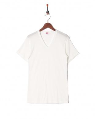 ホワイト 吸水速乾 メッシュ ウルトラドライ Vネックシャツ  3セットを見る