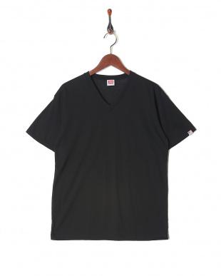 ブラック カジュアルTシャツ Vネック  3セットを見る
