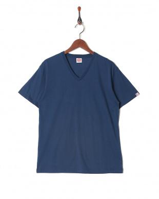 ネイビー カジュアルTシャツ Vネック  3セットを見る