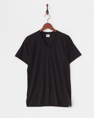 ブラック 吸水速乾 ウルトラドライ Vネックシャツ  3セットを見る