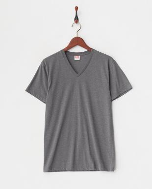グレー 吸水速乾 ウルトラドライ Vネックシャツ  3セットを見る