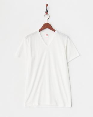 ホワイト 吸水速乾 ウルトラドライ Vネックシャツ  3セットを見る