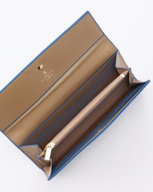 ブルー系その他 バイカラー長財布を見る