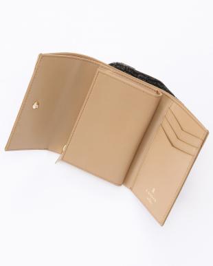ピンク バイカラー二つ折財布を見る