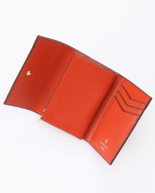 キャメル バイカラー二つ折財布を見る