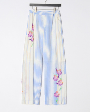 SAX EMBROIDERED STRIPED FLW PANTSを見る