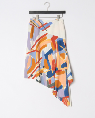 BLOOMSBURY PRINTED ASMMETRIC SKIRTを見る