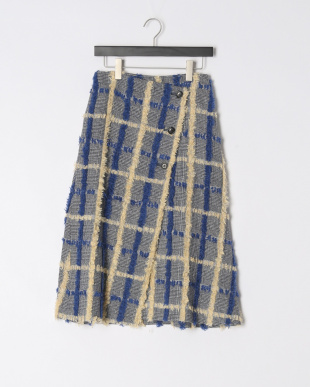 BLU X YLW CUT HRT CHECK WRAPPED SKIRTを見る