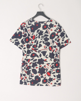 ネイビーフラワー Tシャツを見る