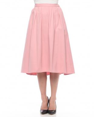 Pink カラー起毛ヘムスカートを見る