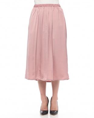 Pink サテンロングスカートを見る