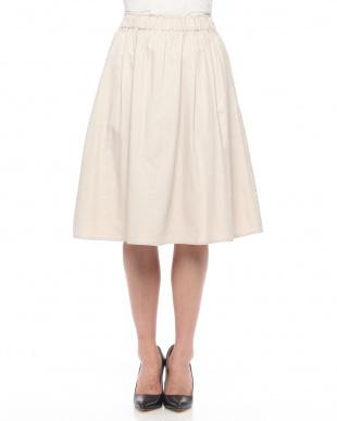 オフホワイト 裏起毛綿ツイルスカートを見る