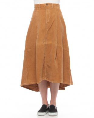 Camel 0コール天ロングフレアスカートを見る