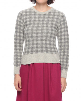 Gray WOMENS CHECK SWEATERを見る