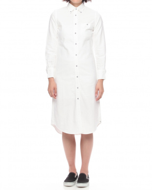 White WOMENS OXFORD SHIRTDRESSを見る