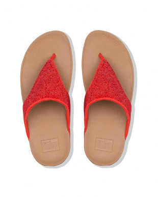 Passion Red  LOTTIE SHIMMERCRYSTAL TOE-THONGSを見る