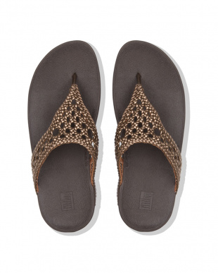 Bronze  LOTTIE WICKER TOE-THONGSを見る