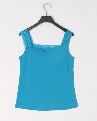65/青系F(ブルー) 天竺編み 綿100%キャミソールを見る