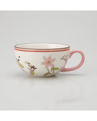 ピンク ペイズリーフラワー スープカップ 3Pセットを見る