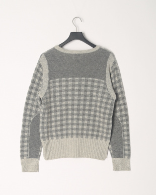 Gray KOE×THOM BROWNE. CHECK CREWNECK SWEATERを見る