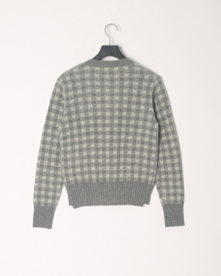 Gray KOE×THOM BROWNE. CHECK CARDIGAN SWEATERを見る