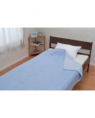 ブルー  ウール毛布 140×200cmを見る