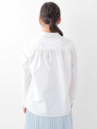 ホワイト 【洗濯機で洗える】V開きシャツ MK MICHEL KLEINを見る