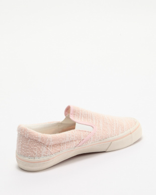 ピンク 杢調デザインスリッポンを見る