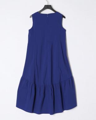 ロイヤルブルー ノースリーブVネックドレスを見る