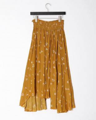マスタード Flower Print Skirt2を見る