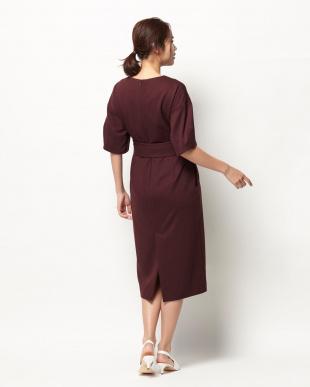 ボルドー V-neck Dressを見る
