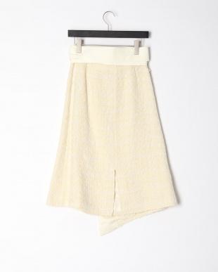ホワイト Linen Tweed Skirtを見る