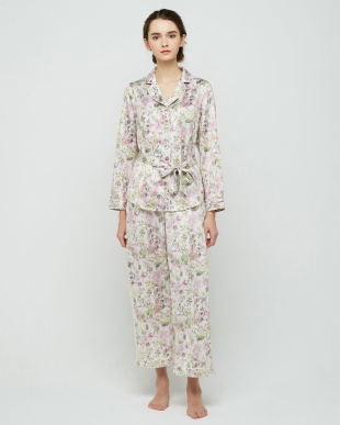 ピンク AMSTNW01 Top5-C JX WOMENS WEAR Pressed flower print トップを見る