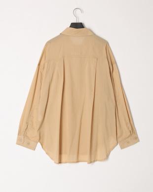 ベージュ 綿ローンCPOシャツを見る