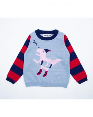 レッド おやすみ恐竜セーターを見る