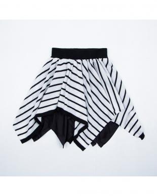 ブラック ボーダースカートを見る